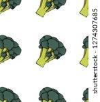 broccoli pattern. broccoli... | Shutterstock .eps vector #1274307685