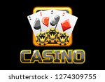 logo text casino and icon on...