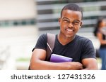 happy male african university... | Shutterstock . vector #127431326