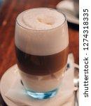 delicious latte macchiato    Shutterstock . vector #1274318335