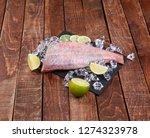 sea perch on a black board. sea ... | Shutterstock . vector #1274323978