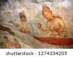 the sigiriya cloud maidens ...   Shutterstock . vector #1274334205