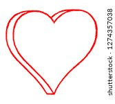 red heart drawing is created... | Shutterstock .eps vector #1274357038