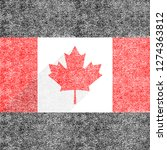 canadian flag the maple leaf in ... | Shutterstock .eps vector #1274363812