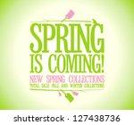 spring is coming vector design... | Shutterstock .eps vector #127438736