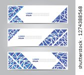 banners with flat geometric... | Shutterstock .eps vector #1274388568