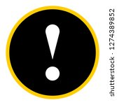 exclamation mark icon warning... | Shutterstock .eps vector #1274389852
