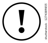 exclamation mark icon warning... | Shutterstock .eps vector #1274389855