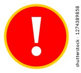 exclamation mark icon warning... | Shutterstock .eps vector #1274389858