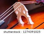 Bridge Of A Cello. Close Up...