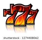 triple lucky blazing sevens... | Shutterstock .eps vector #1274408062
