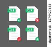 flat design with xls files... | Shutterstock .eps vector #1274427688