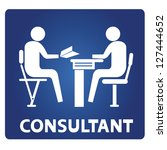 consultant sign | Shutterstock .eps vector #127444652