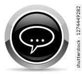 forum vector steel icon. chrome ... | Shutterstock .eps vector #1274449282