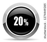 20 percent vector steel icon.... | Shutterstock .eps vector #1274449285