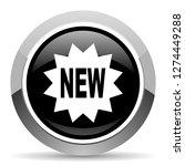 new vector steel icon. chrome... | Shutterstock .eps vector #1274449288