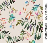 floral seamless pattern.... | Shutterstock . vector #1274454088