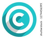 the copyright symbol  or... | Shutterstock .eps vector #1274456395