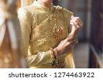 bride in thai traditional dress ... | Shutterstock . vector #1274463922