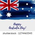 happy australia day. holiday... | Shutterstock .eps vector #1274465545
