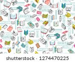 library books background on... | Shutterstock . vector #1274470225