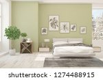 white bedroom with winter... | Shutterstock . vector #1274488915