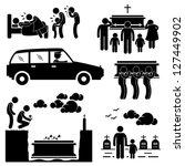 people man funeral burial... | Shutterstock .eps vector #127449902