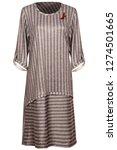 grey stripped dress   Shutterstock . vector #1274501665