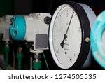 pressure gauge at the power... | Shutterstock . vector #1274505535