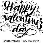 happy valentines day. vector... | Shutterstock .eps vector #1274521045
