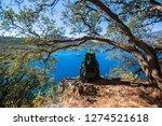 walking lycian way adventure.... | Shutterstock . vector #1274521618