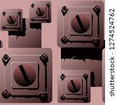hand drawn seamless vector... | Shutterstock .eps vector #1274524762