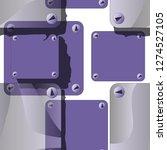hand drawn seamless vector... | Shutterstock .eps vector #1274527105