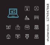 seo icons set. seo optimization ...