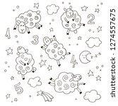 good night cartoon set for kids....   Shutterstock .eps vector #1274557675