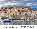 Amazing Panorama of Old town of Kavala, East Macedonia and Thrace, Greece