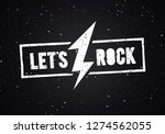 vector illustration lets rock... | Shutterstock .eps vector #1274562055