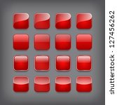 set of blank red buttons for... | Shutterstock .eps vector #127456262