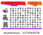 treatment icon set. 120 filled ... | Shutterstock .eps vector #1274564578