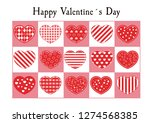 happy valentines day card.... | Shutterstock .eps vector #1274568385