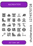 recreation icon set. 25 filled ... | Shutterstock .eps vector #1274570728