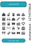 elegance icon set. 25 filled... | Shutterstock .eps vector #1274570818