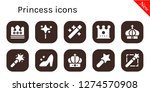 princess icon set. 10 filled...   Shutterstock .eps vector #1274570908