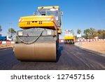 Road Rollers During Asphalt...