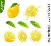 3d realistic vector set of... | Shutterstock .eps vector #1274572255