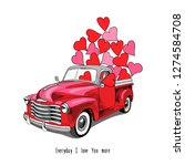 card of a valentine's day. red... | Shutterstock .eps vector #1274584708