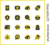 cryptocurrency icons set with... | Shutterstock .eps vector #1274597992