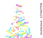 sprinkles grainy. sweet...   Shutterstock .eps vector #1274607928