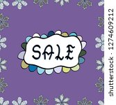 seamless. modern sticker...   Shutterstock .eps vector #1274609212