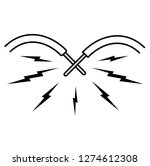 short circuit. vector flat...   Shutterstock .eps vector #1274612308